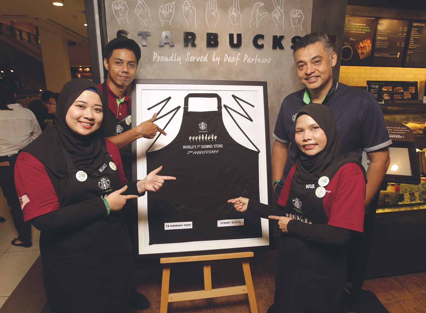 Starbucks Signing Store in Bangsar creates career opportunities for the deaf community