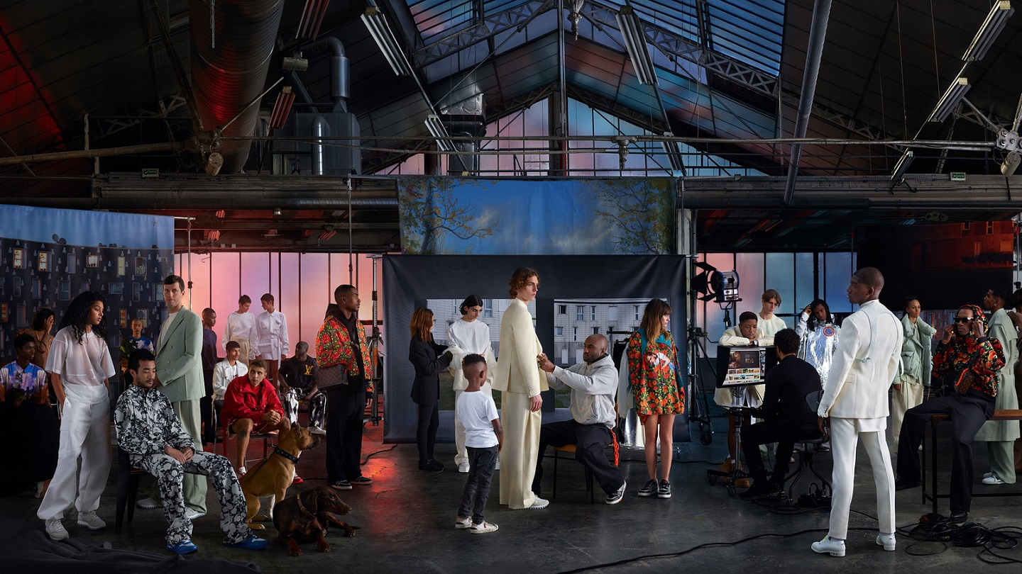 7bd6ccb422c Virgil Abloh reimagines Gustave Courbet s The Painter s Studio for the  second chapter of the Louis Vuitton Men s Spring-Summer 2019 Campaign  (Photo Mohamed ...